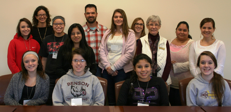 With funds from a Campus Action Project grant, the Willmar Branch sponsored a Taste of College visit on November 6.